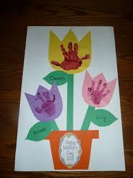 mother u0027s day handprint flowers for kids 2 funnycrafts
