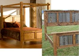Wood Canopy Bed Rustic Barnwood Alder Canopy Bed Rustic Beds For Sale Lodge Craft