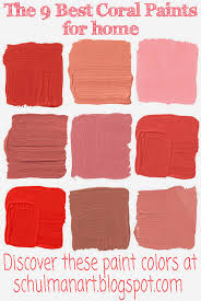 art blog for the inspiration place the best 9 coral color paint