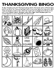 thanksgiving bingo board no 2 coloring page crayola