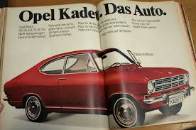 kadett opel opel kadett das auto 1968 1969 promoted the adam opel ag for
