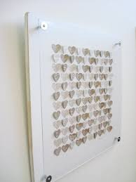 paper heart wedding guest book alternative personalized guest