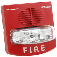 wall mount strobe light audible visible multicandela red wall mount