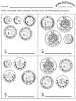 mexican money worksheets