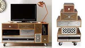mueble tv retro vintage tv cabinet with wheels