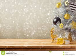 background with tree and decorations
