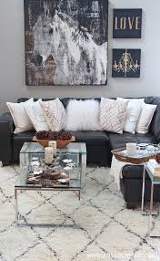 rustic living room rug setting for four