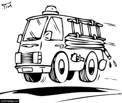fast red fire truck coloring printable ecoloringpage