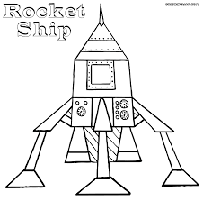 rocket coloring pages rocket of the galaxy coloring page free