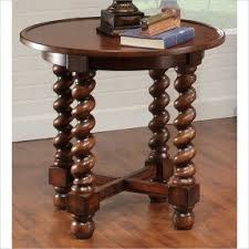 Wood Round End Table Round Oak End Tables Foter