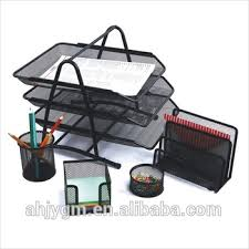 multifunctional 5 pieces office mesh file tray office organizer