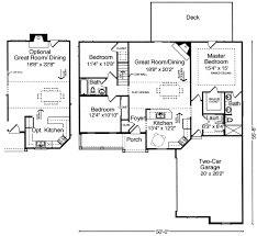 Great Room Floor Plan Oakbrook Iv 9101 3 Bedrooms And 2 5 Baths The House Designers