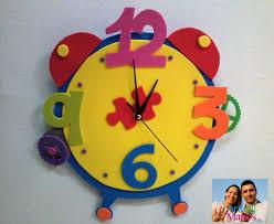 reloj en foami con mecanismo paso a paso foami clock step by