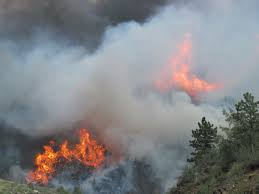 Wildfire Near Fort Collins Colorado by High Park Fire In The Cache La Poudre Canyon Rivers2seas Sailing