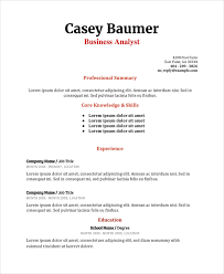 Ut Resume 8 Business Analyst Resumes Free Sample Example Format Free