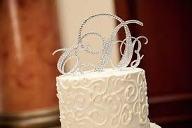 monogram wedding cake topper custom wedding cake topper diamond name monogram dates