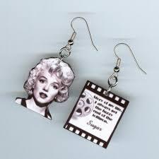 some like it earrings marilyn monroe quote designs by annette