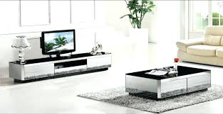 mirrored living room furniture stylish modern gray mirror modern furniture coffee table and tv