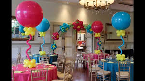 Centerpieces For Baby Shower by Creative Baby Shower Balloon Decorating Ideas Youtube