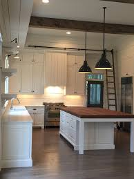 Farm Table Kitchen Island by Beams Pendants Shiplap Island Lights Above The Sink Eating