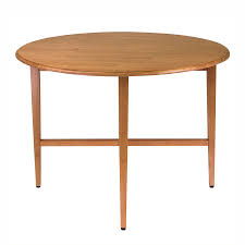 light wood round dining table shop winsome wood hannah light oak composite round extending dining
