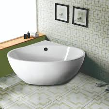 Corner Tub Bathroom Ideas by The Saia Corner Tub Delivers Spa Like Style With Its Freestanding