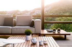 Outdoor Lounge Vis A Vis Contemporary Coffee Table Teak Rectangular Square Vis à