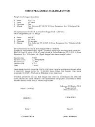 format surat kuasa jual beli rumah 10 contoh surat perjanjian jual beli yang baik dan benar lengkap