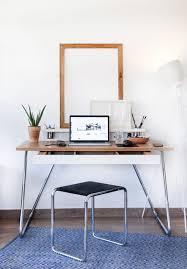 Platzsparender Schreibtisch Schreibtisch Aus Eiche Holzfurnier Stahl Modern Startup