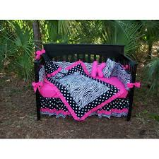 Nightmare Before Christmas Baby Bedding Pink Black Zebra Polka Dots Crib Bedding Set