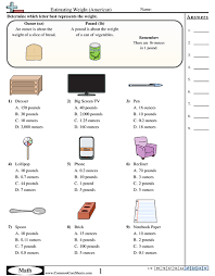 weight worksheets