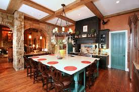 amazing antique french country kitchen featuring black finish