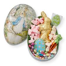 paper mache easter bunny rabbit candy filled mache egg large williams sonoma