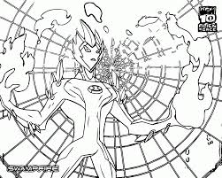 beautiful ben ten alien force coloring pages gallery printable