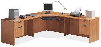 large l desk bush furniture bush cabot l shaped computer desk espresso oak box