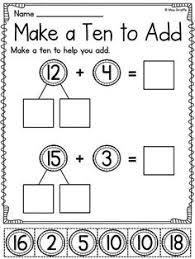 first grade math unit 10 fact fluency worksheets bridge and math