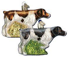 the pet set german shorthair pointer glass ornament