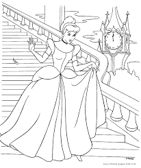 coloring stunning cinderella color pages free printable