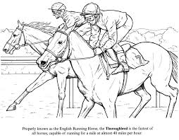 coloring sheets of a horse horse racing color pages horse coloring page of racing