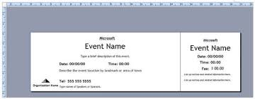 how to make raffle tickets on word how to create tickets for an event u2013 tutorial free u0026 premium