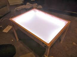 Light Up Drafting Table by Hobby Mommy Creations Diy Light Table Ikea Hack