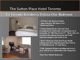 One Bedroom Flat Sutton Apartments On Bay U0026amp La Grande Residence At The Sutton Place Hotel