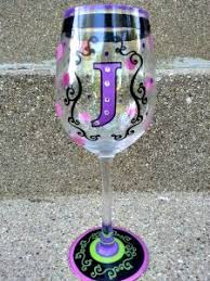 wine glass with initials painted wine glasses 51 diy ideas guide patterns