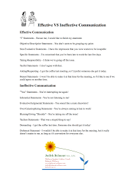 effective vs ineffective communication for more life skills