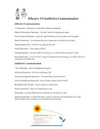 effective vs ineffective communication for more life skills