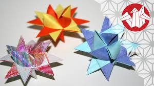 origami tutorial german christmas star fröebelstern senbazuru