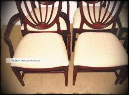 white wall paint decoration brown classic chairs with solid wood