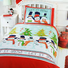 Christmas Duvet Cover Sets Bed U0026 Bath Christmas Snowman Friends Duvet Cover Set