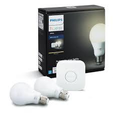 philips hue white a19 60w equivalent smart bulb starter kit