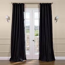 Silk Dupioni Curtains Black Silk Curtains Half Price Drapes